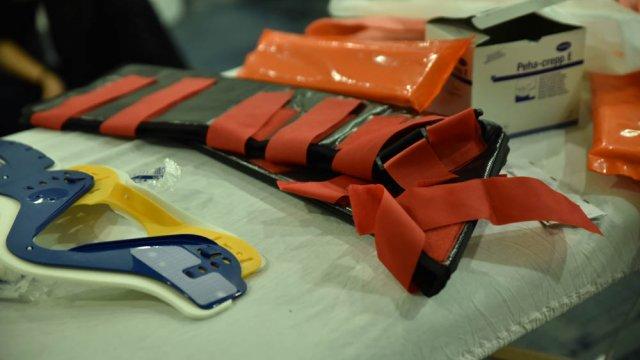 material assistência médica em campo