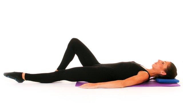 Curso Pilates pós Cirurgia da Coluna Vertebral - exercicio abdminal prep