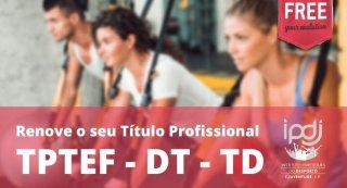 Renovar a sua cédula/ título profissional IPDJ: TPTEF, DT e TD