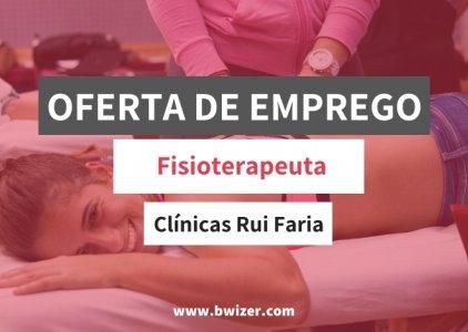 Oferta de emprego | Fisioterapeuta (Clínicas Rui Faria - Alcanena)